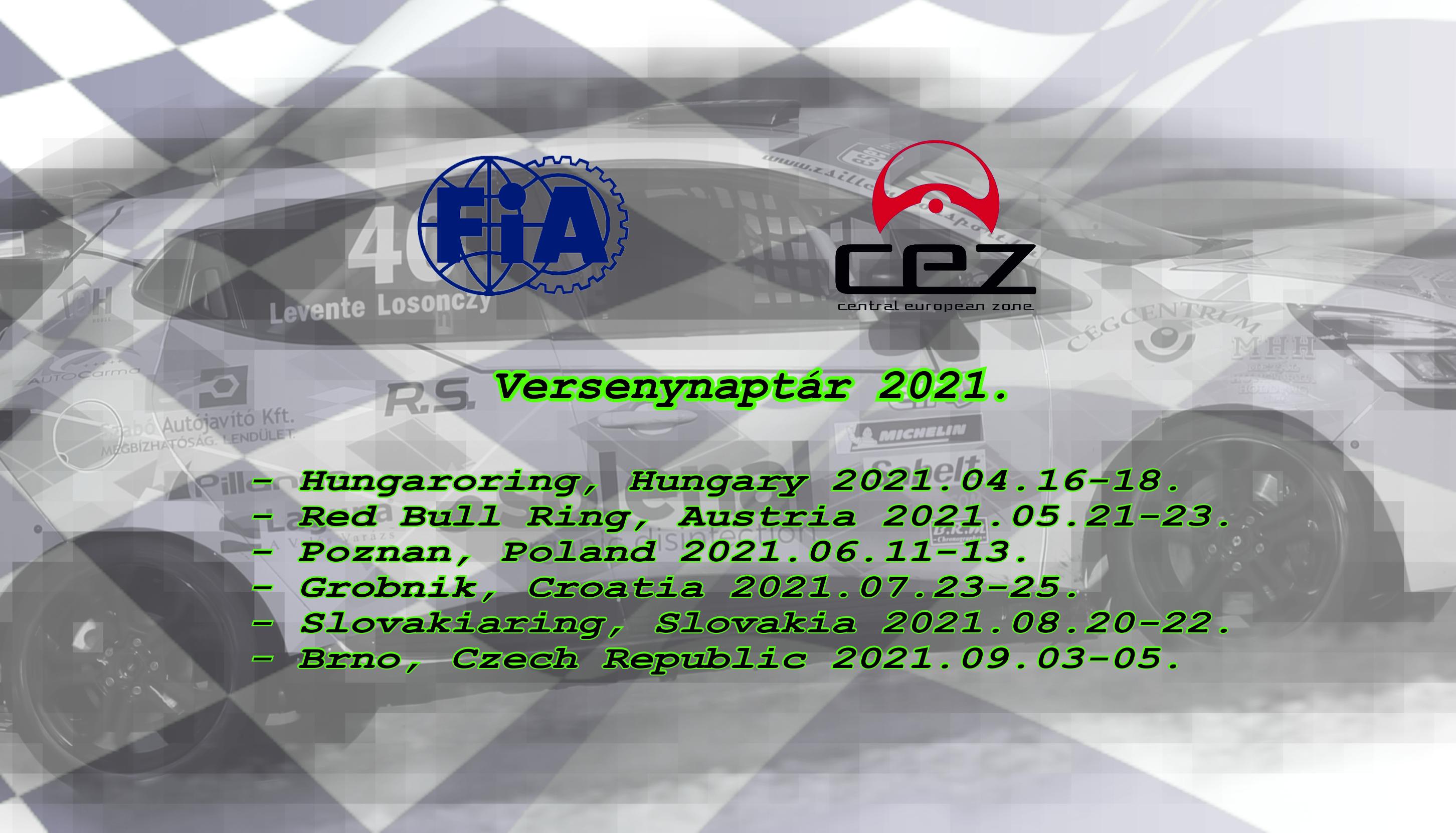 2021-es versenynaptár
